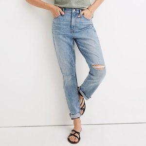 Madewell high rise slim boy jeans Elkhart wash